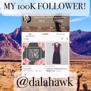 Other - FOLLOW & SHARE @dalahawk & I'LL SHARE YOUR CLOSET!